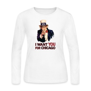 I Want You For Chicago - Women's Long Sleeve Jersey T-Shirt