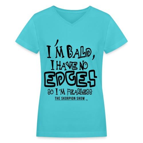 I'M BALD - Women's V-Neck T-Shirt