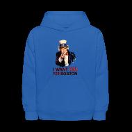 Sweatshirts ~ Kids' Hoodie ~ I Want You For Boston