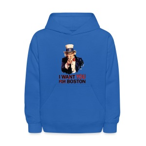 I Want You For Boston - Kids' Hoodie