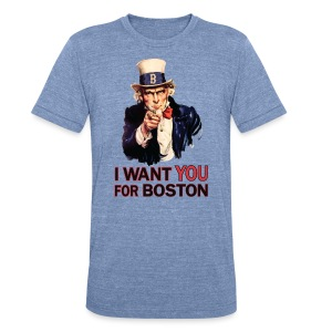 I Want You For Boston - Unisex Tri-Blend T-Shirt