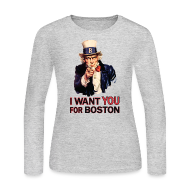 Long Sleeve Shirts ~ Women's Long Sleeve Jersey T-Shirt ~ I Want You For Boston