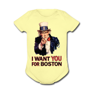 Baby & Toddler Shirts ~ Baby Short Sleeve One Piece ~ I Want You For Boston