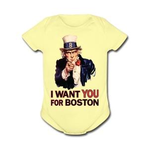 I Want You For Boston - Short Sleeve Baby Bodysuit
