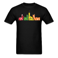 T-Shirts ~ Men's T-Shirt ~ Hawks Chicago Skyline