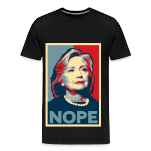 Nope to Hillary TShirt  - Men's Premium T-Shirt