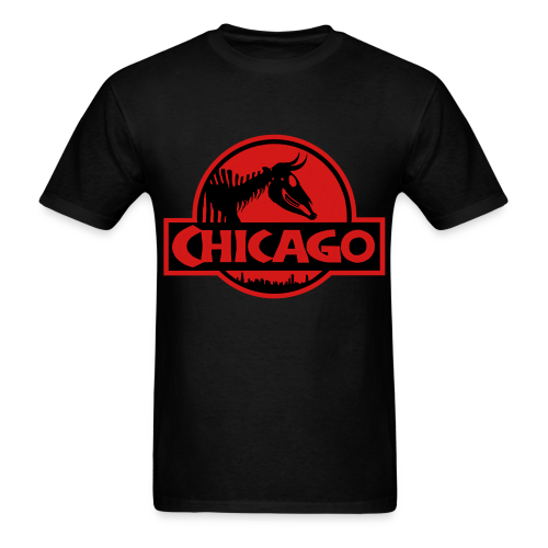 Men's Jurassic Chicago Red Logo Tee - Men's T-Shirt
