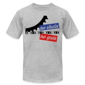 no chain no gain T-Shirts - Men's Fine Jersey T-Shirt