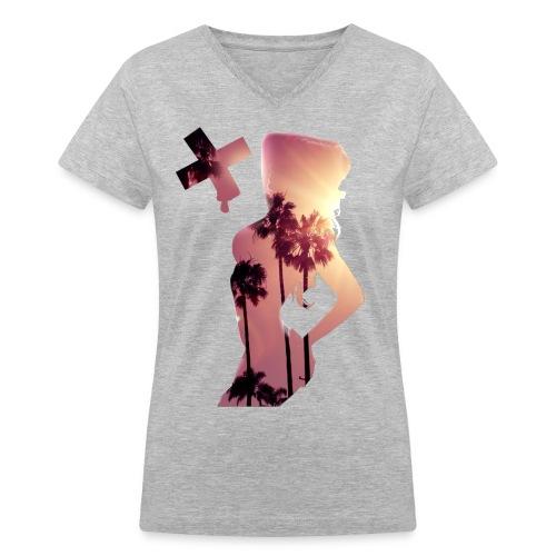 Sexy Summer  - Women's V-Neck T-Shirt