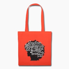Afro Text Tote