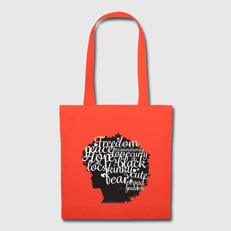 Afro Text Tote - Tote Bag