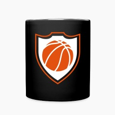Basketball shield Mugs & Drinkware