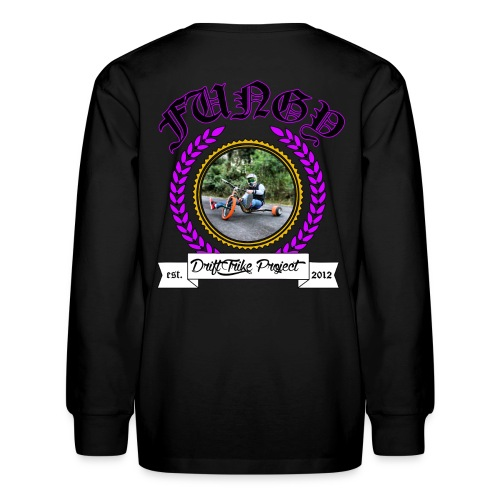 Kids purple Fungy long sleeve T - Kids' Long Sleeve T-Shirt
