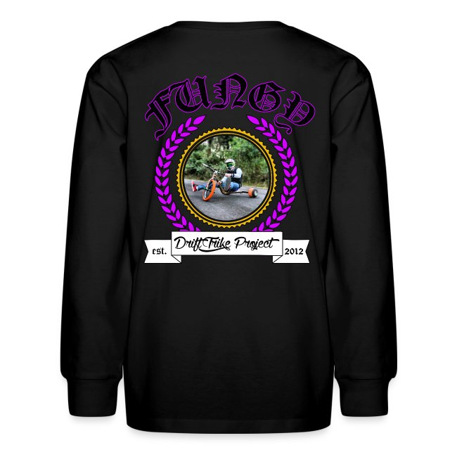Kids purple Fungy long sleeve T