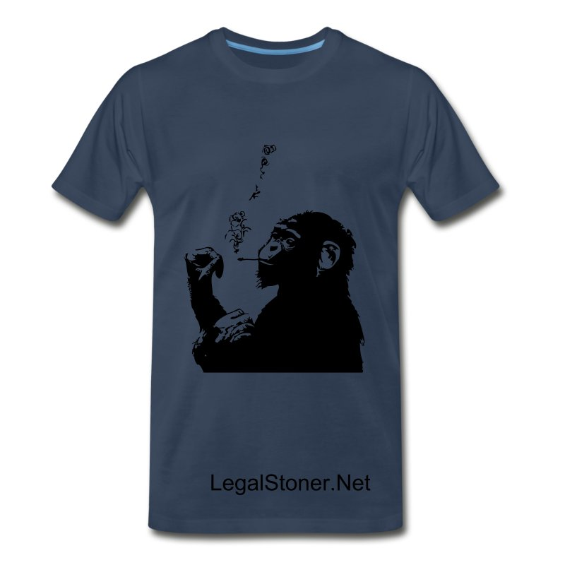 Legal Stoner - Men's Monkey Smokin' Tee  - Men's Premium T-Shirt