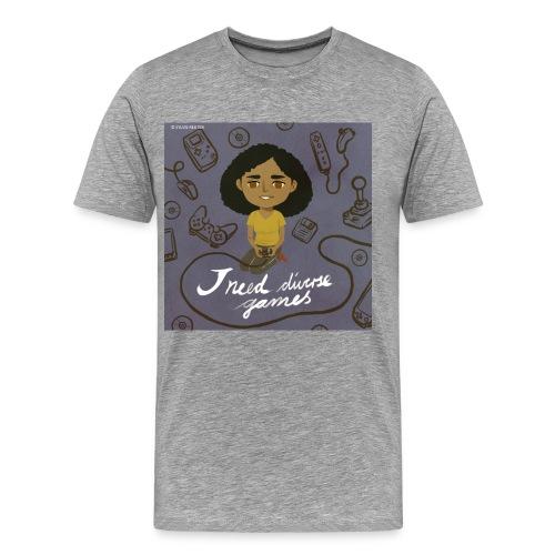 INDG Graphic tee - Grey - Men's Premium T-Shirt