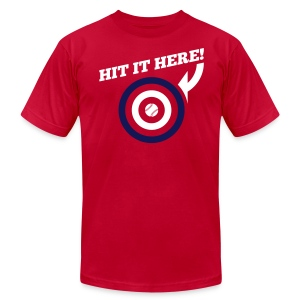 Hit it Here! (Los Angeles, St. Louis, Washington)  - Men's T-Shirt by American Apparel