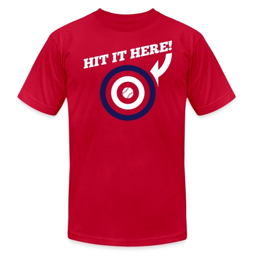 Hit it Here! (Los Angeles, St. Louis, Washington)  - Men's Jersey T-Shirt