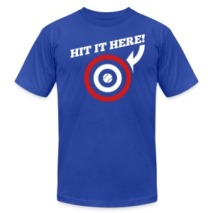 Hit it Here! (Chicago, Texas) - Men's T-Shirt by American Apparel