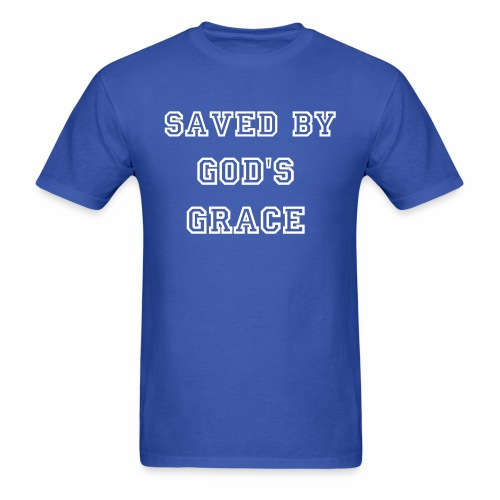 Saved By God's Grace Men's T-shirt - Men's T-Shirt