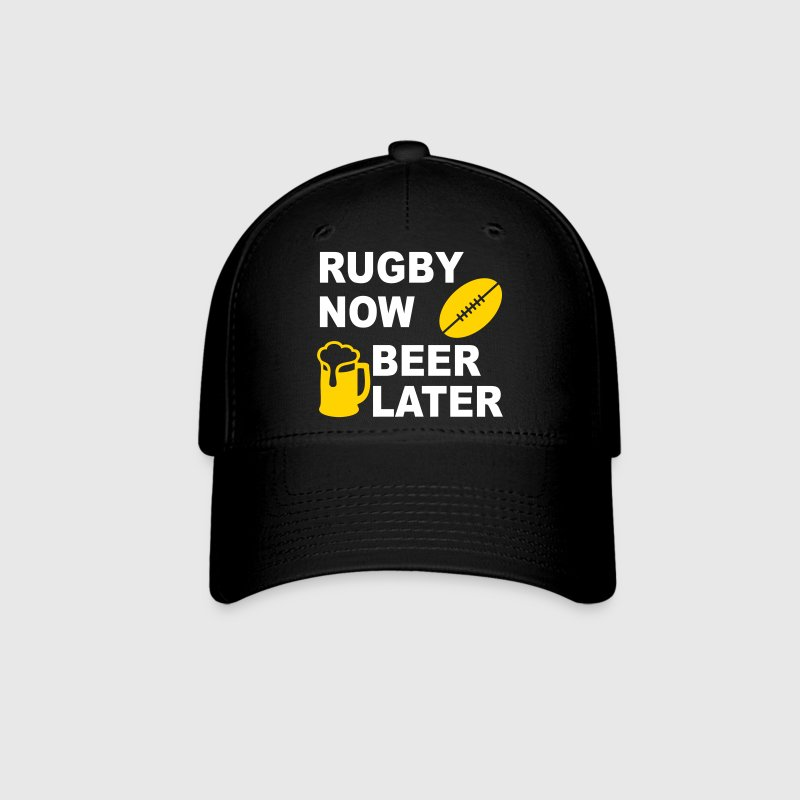 Rugby Now Beer Later Caps - Baseball Cap