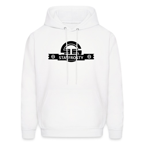 Stay Frosty Banner White - Men's Hoodie