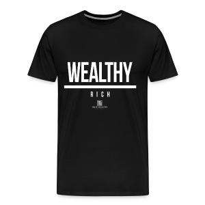Being Wealthy Over Being Rich - Men's Premium T-Shirt
