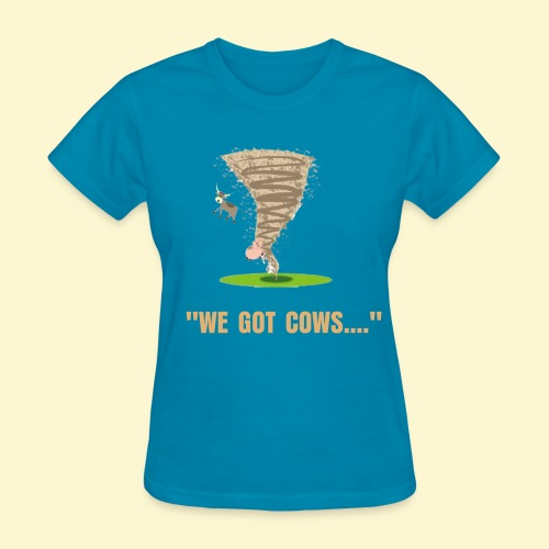 Tornado with Flying Cow and Pig- Women's T-Shirts - Women's T-Shirt