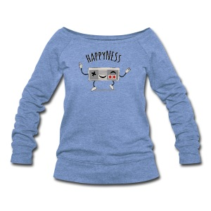 happyNESs [chibi] - Women's Wideneck Sweatshirt