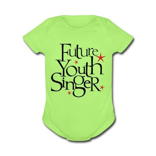Future Youth Singer   - Organic Short Sleeve Baby Bodysuit