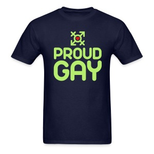 Proud Gay (2c) - Men's T-Shirt