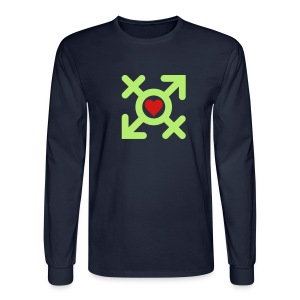 Love United Gender Symbol (2c) - Men's Long Sleeve T-Shirt