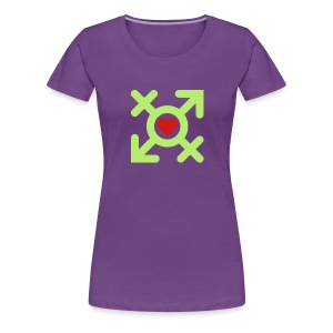 Love United Gender Symbol (2c) - Women's Premium T-Shirt