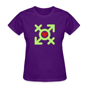 Love United Gender Symbol (2c) - Women's T-Shirt