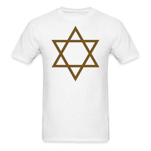 Gold Glitz Star of David - Men's T-Shirt