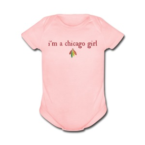 I'm a Chicago Girl - Hockey - Short Sleeve Baby Bodysuit