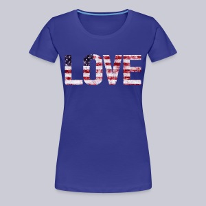 USA Flag Love - Women's Premium T-Shirt