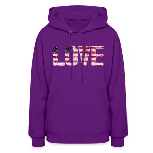 USA Flag Love - Women's Hoodie