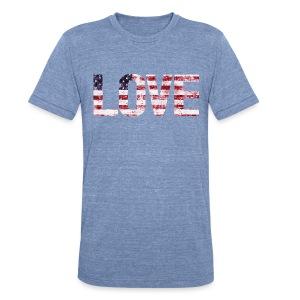 USA Flag Love - Unisex Tri-Blend T-Shirt