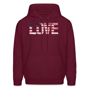 USA Flag Love - Men's Hoodie