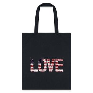 USA Flag Love - Tote Bag