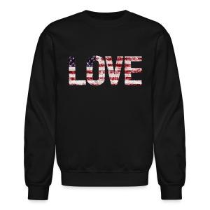 USA Flag Love - Crewneck Sweatshirt