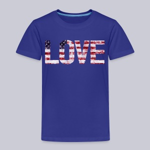 USA Flag Love - Toddler Premium T-Shirt