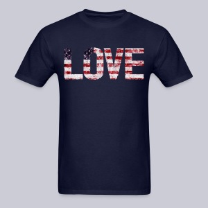 USA Flag Love - Men's T-Shirt