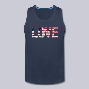 USA Flag Love - Men's Premium Tank