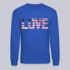 USA Flag Love - Crewneck Sweatshirt