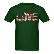 T-Shirts ~ Men's T-Shirt ~ USA Flag Love