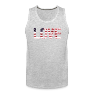 Tank Tops ~ Men's Premium Tank Top ~ USA Flag Love