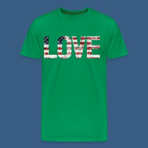 USA Flag Love - Men's Premium T-Shirt