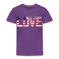 Baby & Toddler Shirts ~ Toddler Premium T-Shirt ~ USA Flag Love